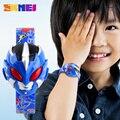 Nova KMEI Crianças Esportes Relógios Bonitos dos Miúdos Relógios Dos Desenhos Animados Assista Meninos Das Meninas das Crianças De Borracha Digital LED relógios de Pulso Relojes