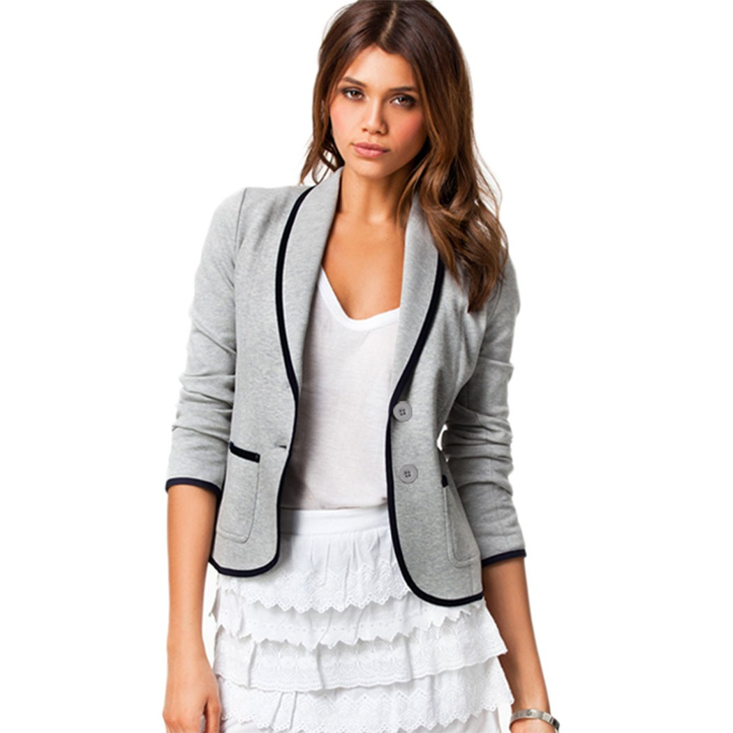Online Get Cheap Womens Gray Blazer -Aliexpress.com | Alibaba Group