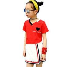 Gulugulumi Model 2017 Child Women Summer season Kids's Units T-shirt And Culotte 2 Piece Units Sports activities Informal Trend Clothes Units
