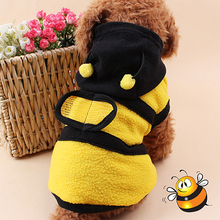 Pet Hoodie Clothes Cute Fancy Puppy Apparel Costume Cat  Coat Outfit Bee Style