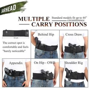 Image 3 - Universal Tactical Banda Barriga Ocultaram Transportar Pistola Coldre Bolsa Saco Da Cintura Invisível Cinto Cinto Elástico para a Caça Ao Ar Livre