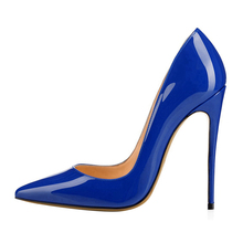 Big Size New Classic Pointed Toe Thin High Heel Sexy Women Pumps Candy Colors For Office Lady Elegant Patent Leather Shoes C021A цены онлайн