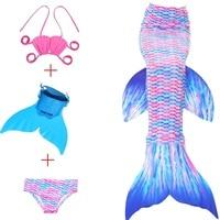 2018 Kinderen Bikini Set Cosplay Mermaid Badpak Baby Meisjes Badmode Kleurrijke Bikini Kid Zwemmen Zeemeermin Staarten