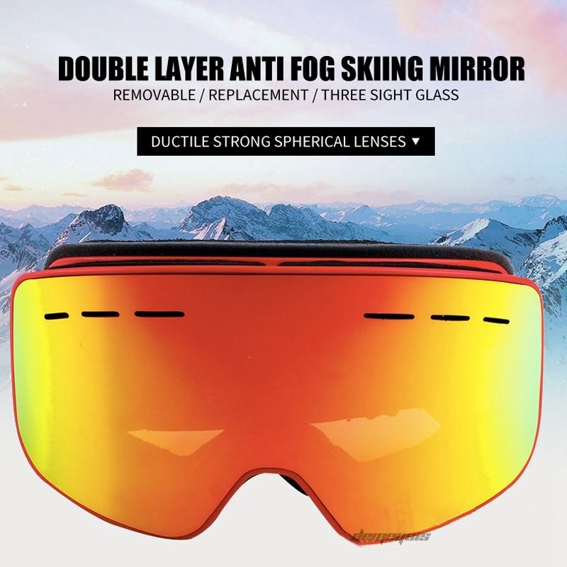 Skiing Snowboarding Goggles Snowmobile Eyewear Ski Googles Skiing UV Protect Ski glasses Men Women Snowboard Goggles
