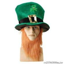 19e0abb7b3279 25 pcs Engraçado Irlandês Trevo Chapéus Chapéu Do Duende Verde Topo  Headband Do Partido Do Dia de Saint Patrick Chapéus