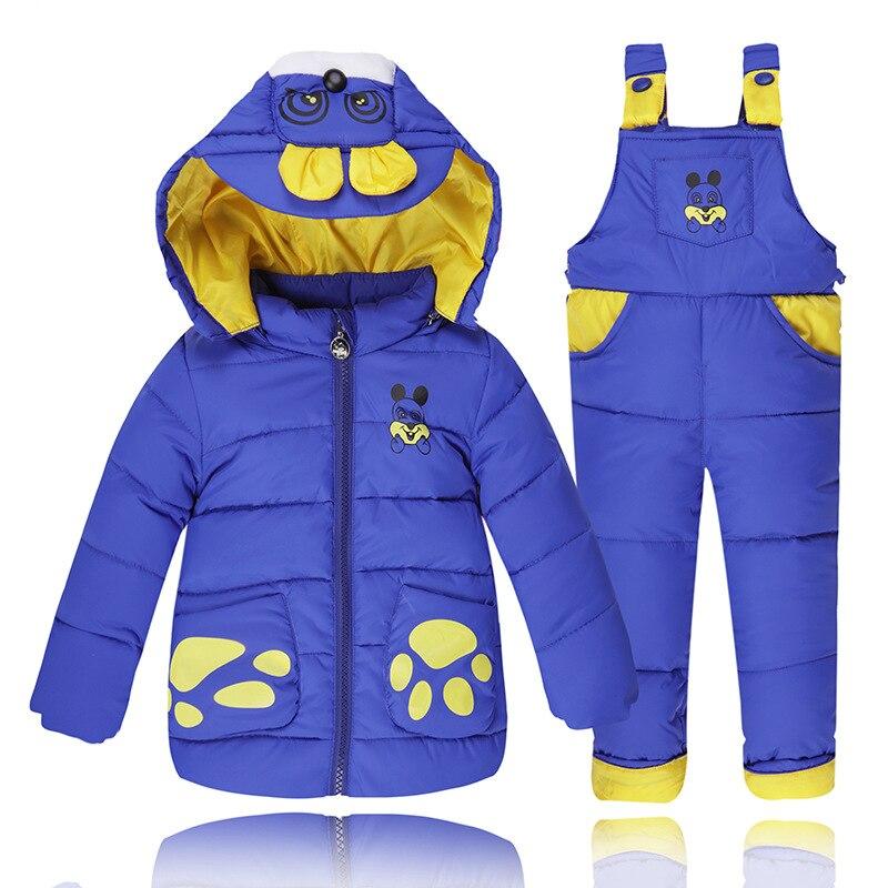 Kış Tulum Tulum Erkek Bebek Kız Çocuk Giysileri Için Aşağı Ceketler Sıcak Palto çocuk Giyim Ceket Giyim Suits Set