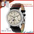 Marca de luxo gaivota High End Chronograph mão vento mecânica dos homens M199S relógio