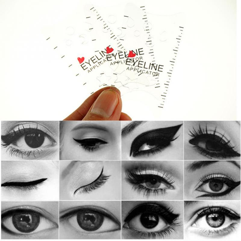 3pcsset Cat Eye Smokey Eye Makeup Eyeliner Models Template Top