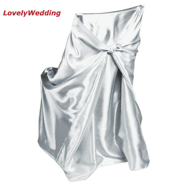 White Universal Chair Covers Broyhill Outdoor Club Chairs High Quality Satin Cover For Home Banquet Wedding Decoration Self Tie