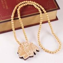 Бесплатная доставка хорошее деревянное ожерелье в стиле хип