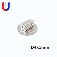 1000pcs super strong industrial magnet D4x1 4*1 mm neodymium mini small round disc magnets 4mm x 1mm fridge