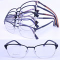 Wholesale A946 vintage full-rim high quality color plating stainless steel square shape optical frames free shipping