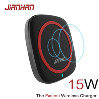 JIANHAN 15W 3A Qi Wireless Charger Fast Charging Q1 for iPhone X 8 XR plus with type C USB cable QC 3.0 charger for Samsung S8 9