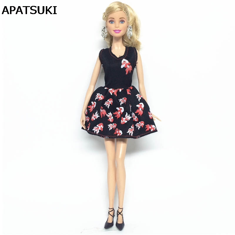 1:6 Doll Clothes For Barbie Princess Doll Fashion Goldfish One Piece Dress For 1/6 BJD Dolls Accessories Kids Toy mannequin