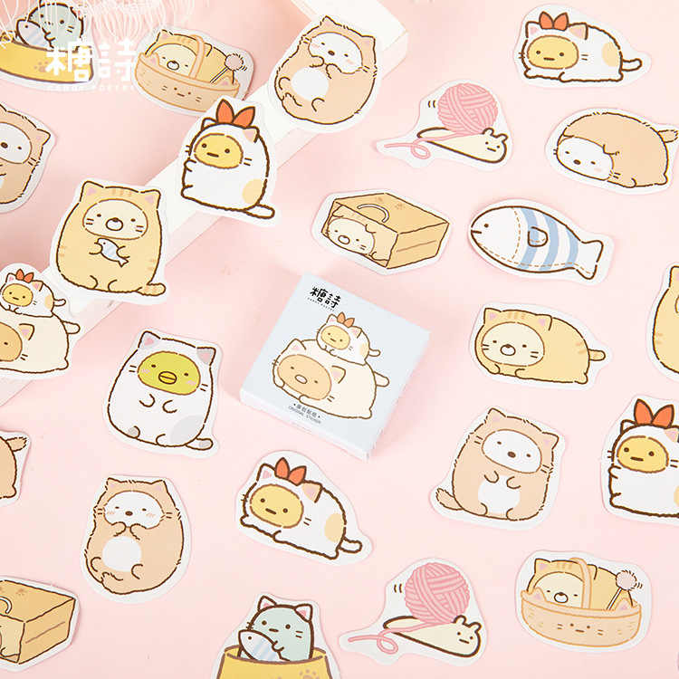 45 Stks/pak Sumikko Gurashi Decoratieve Sticker Briefpapier Craft Stickers Scrapbooking Diy Dagboek Album Stok Label