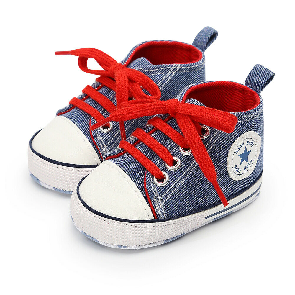 Toddler Baby Kids Girl Boy Soft Crib Shoes Leather Anti-slip Sneakers Prewalkers