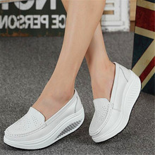 Four seasons suitable for slope with shake fashion casual breathable muffin thick white small shoes