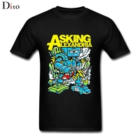 Asking Alexandria Killer Robot T Shirt Men Man S Camiseta White Short Sleeve Custom Big Size