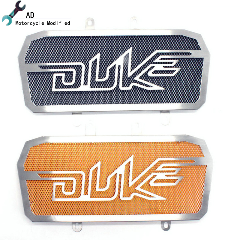For KTM Duke 390 125 200 Radiator Guard Grille Cover Stainless Steel Grill 2013 2014 2015 2016 2017 Motorcycle Accessories ! cnc aluminum motorcycle accessories chain guard cover protector orange for ktm duke 125 200 all year 390 2013 2014 2015 13 14 15