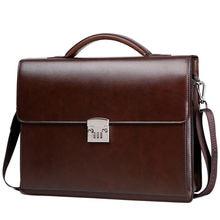 цена на Genuine leather men's Crossbody Bag High Quality Business Briefcase Bag Shoulder Messenger Bags Office Handbag Laptop Briefcases