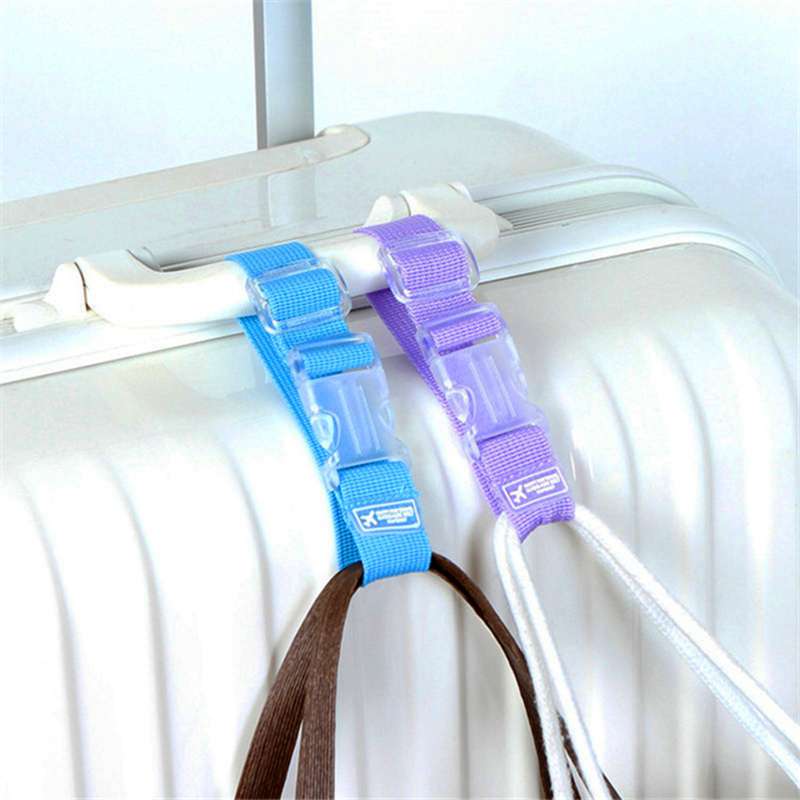 7Colour Portable Adjustable Travel Accessories Buckle Button Security Parts Suitcase Bag Hanger Luggage Strap Aircraft Supplies
