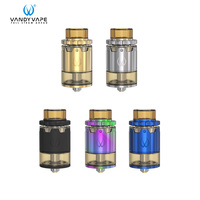 Original Vandy Vape Pyro V2 RDTA Atomizer E Cigarette 2ML 4ML Tank Vape fit 510 Box Mod Vertical coil installation Christmas