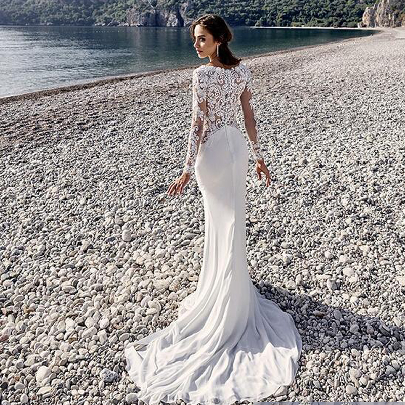 Romantic Mermaid Wedding Dresses : Aliexpress buy romantic arabic vintage mermaid