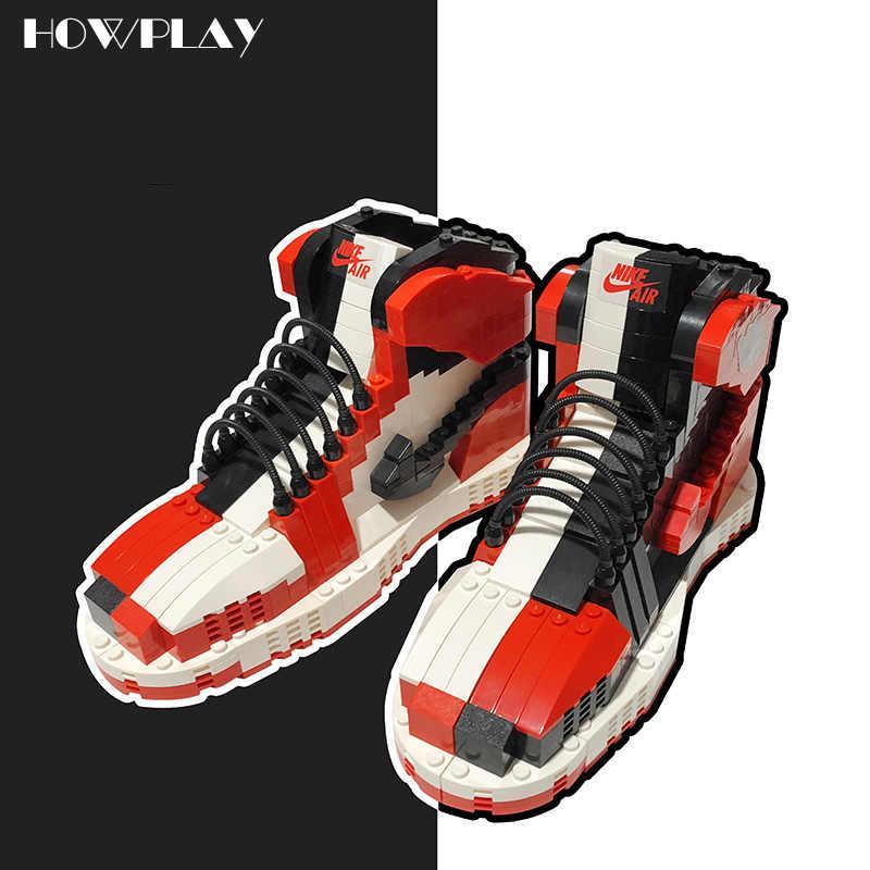 0be41fe6e8 Howplay Chicago building toy kids mandarin duck model boyfriend gift for air  jordan fans basketball shoes