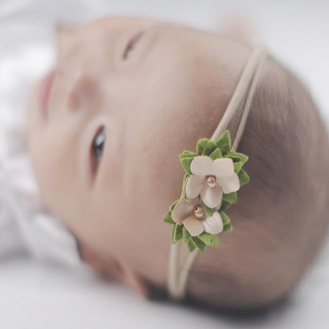 3494778f16d 3 pc set Newborn Baby Photography Headband Props Little Baby Girl Photo  Shoot Flower Headwear Hair Accessories fotografia Props
