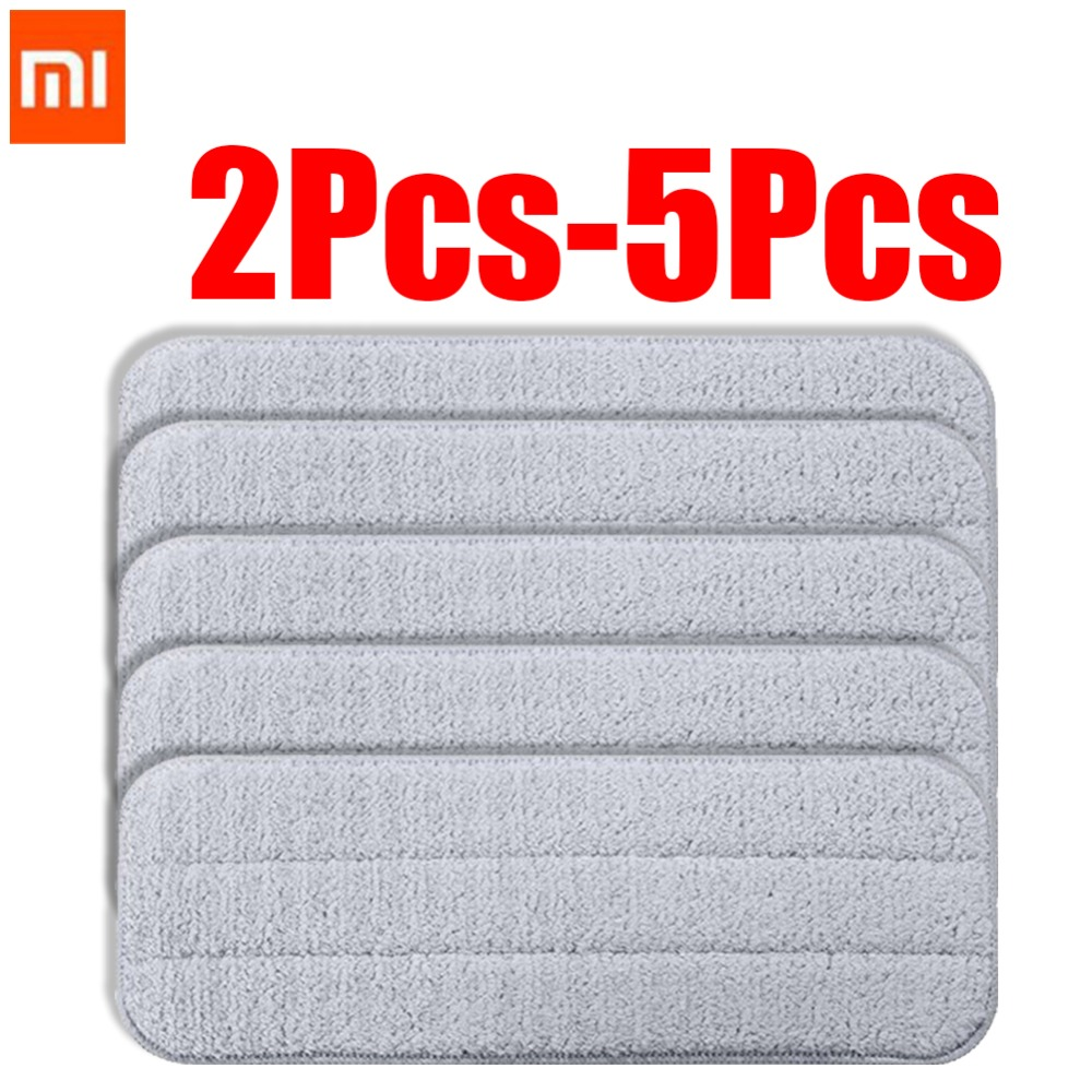 Xiaomi Mijia Deerma Replace Mop Cloth Rags For Mi Mijia Water Spray Mop 360 Rotating Cleaning Cloth Head Wooden Carbon Fibe
