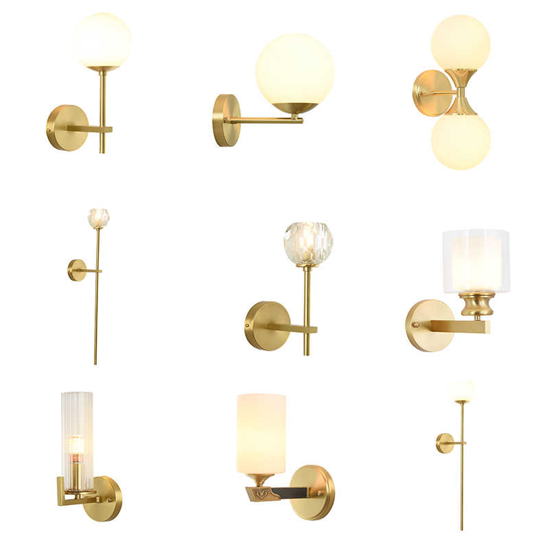 Full Copper Free Shipping Modern  wall light fashion wall   Golden Modern wall lamps crystal golden Luxury sconce