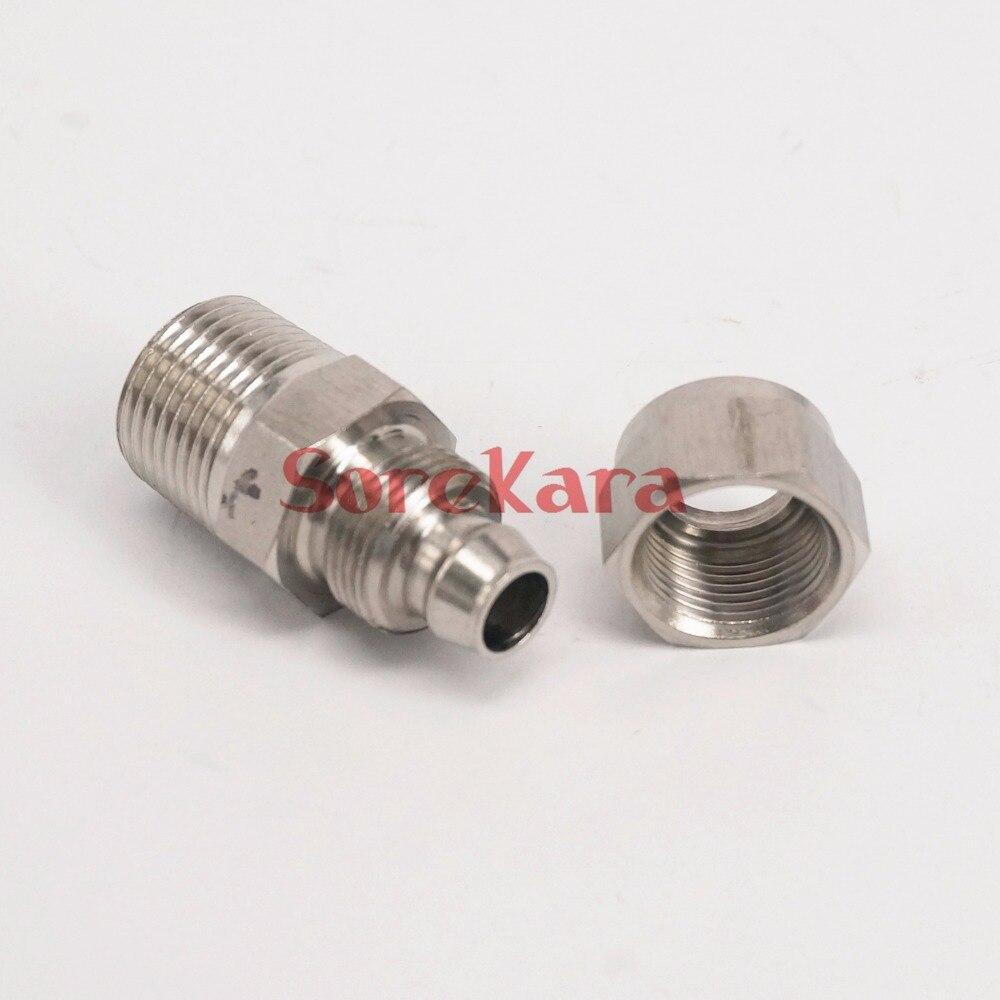 Sanitär Rohre & Armaturen 100% Wahr Mehrere 304 Edelstahl Schott 1/8 bsp Außengewinde Zu Qucik Fit 12x8mm O/dxi/d Schlauchanschluss Anschluss