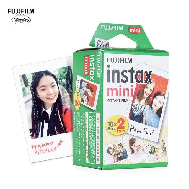 10 20 folhas Fujifilm Instax Mini Filme Branco Papel Fotográfico Instantâneo Álbum de revelação e Cópia Instantâneas para Fujifilm Instax Mini 8/ 9/25/90/7 s