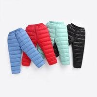 2017 Newborn Baby White Duck Down Warm Winter 10 Degree Trousers Waterproof Outerwear Boy Girl Pants