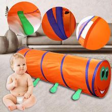 Baby Tunnel Crawling Animal Children's Tent Kids Indoor Outdoor Play Toys House Tents Interesting Caterpillar Crawl Tunnel недорого