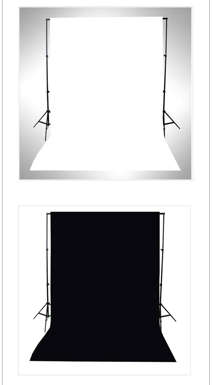 Noir et Blanc WFaced Tissu Photographie Studio Photo Coton Chromakey Écran Fond de Mousseline Tissu Toile De Fond d'incrustation en Chrominance