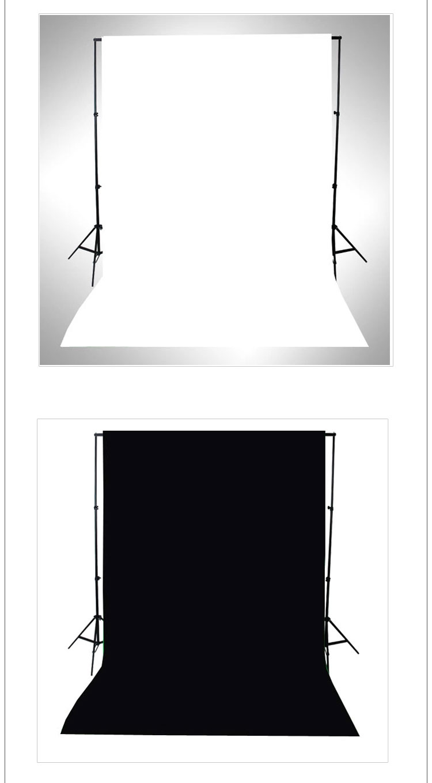 Noir et blanc face tissu photographie Studio Photo coton Chromakey écran mousseline fond tissu toile de fond Chroma clé
