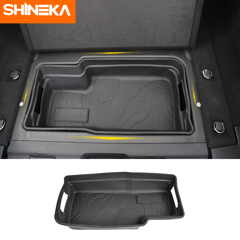 SHINEKA Trunk Storage Mat for Jeep Wrangler Rubber Trunk Cargo Tray Floor Mat Pad for Jeep
