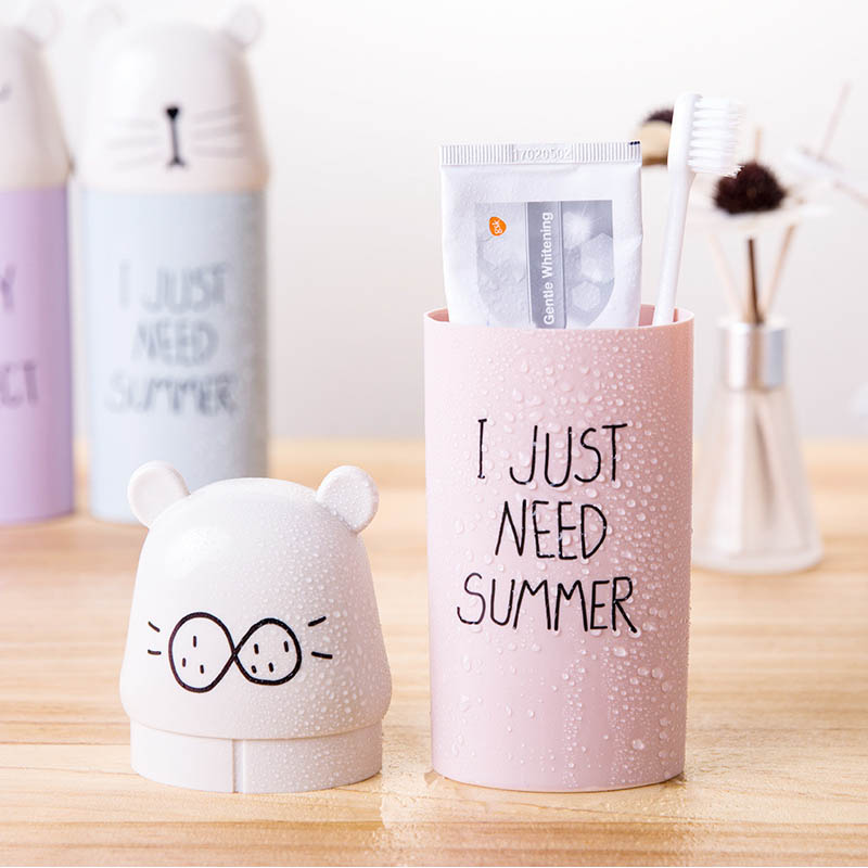 Plastic Toothbrush Holder 1 PC Water Bottle Travel