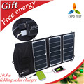 19.5W Sunpower dual usb solar charger quickly folding solar panel  charger for phones and 5v digital devices