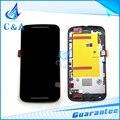 10 шт. EMS DHL бесплатная доставка жк-экран с сенсорным дигитайзер с рамкой для Motorola Moto G2 жк XT1063 XT1068 XT1069
