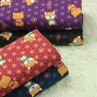 Metade quintal de importação de algodão de linho Japonês brisa suave cão dos desenhos animados saco de tecido de impressão para handmade DIY telas A689
