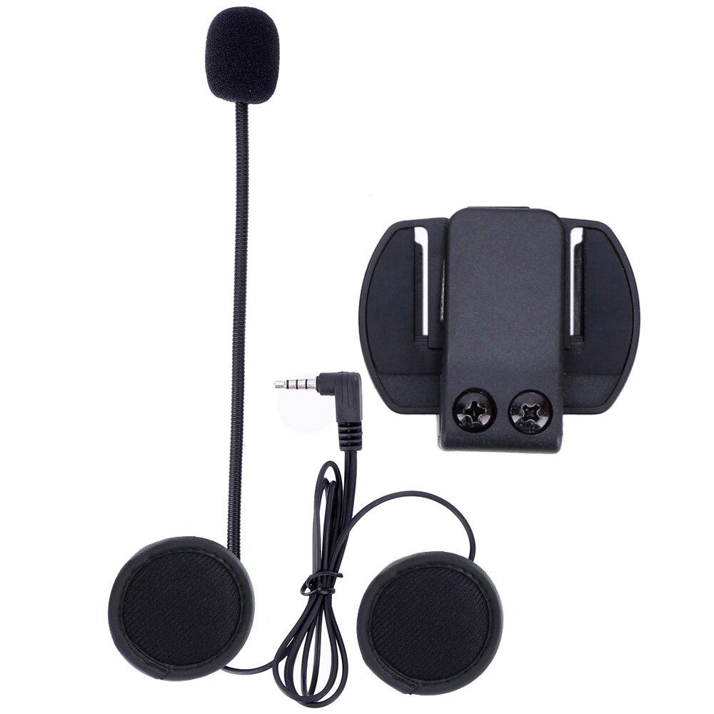 Microfone do Fone De Ouvido & Suporte De Clipe de Metal SÓ Terno para V4 V6 Capacete Da Motocicleta fone de Ouvido Bluetooth Interfone