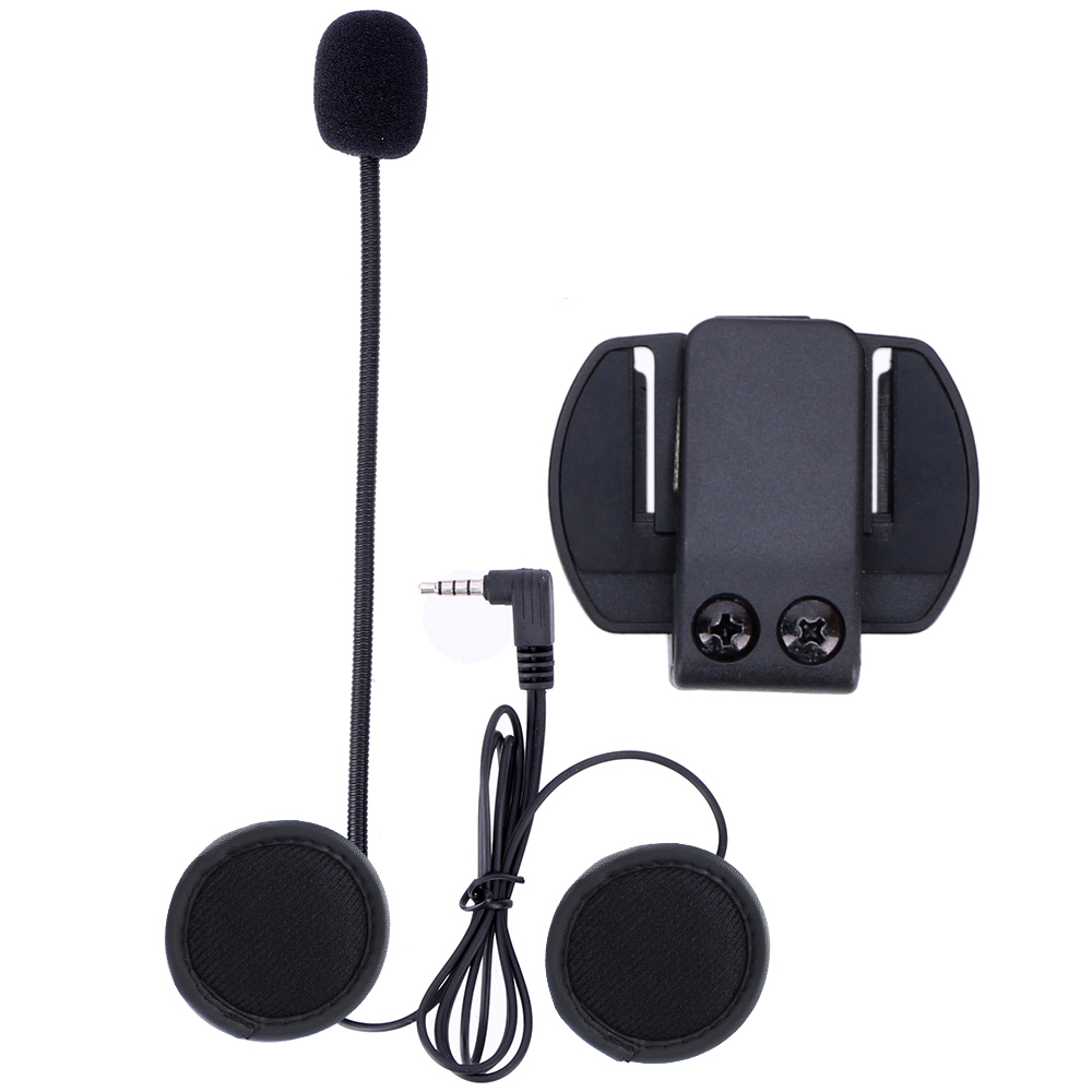 Microphone Earphone & Metal Clip Bracket ONLY Suit for V4 V6 Motorcycle Helmet Bluetooth Headset Interphone
