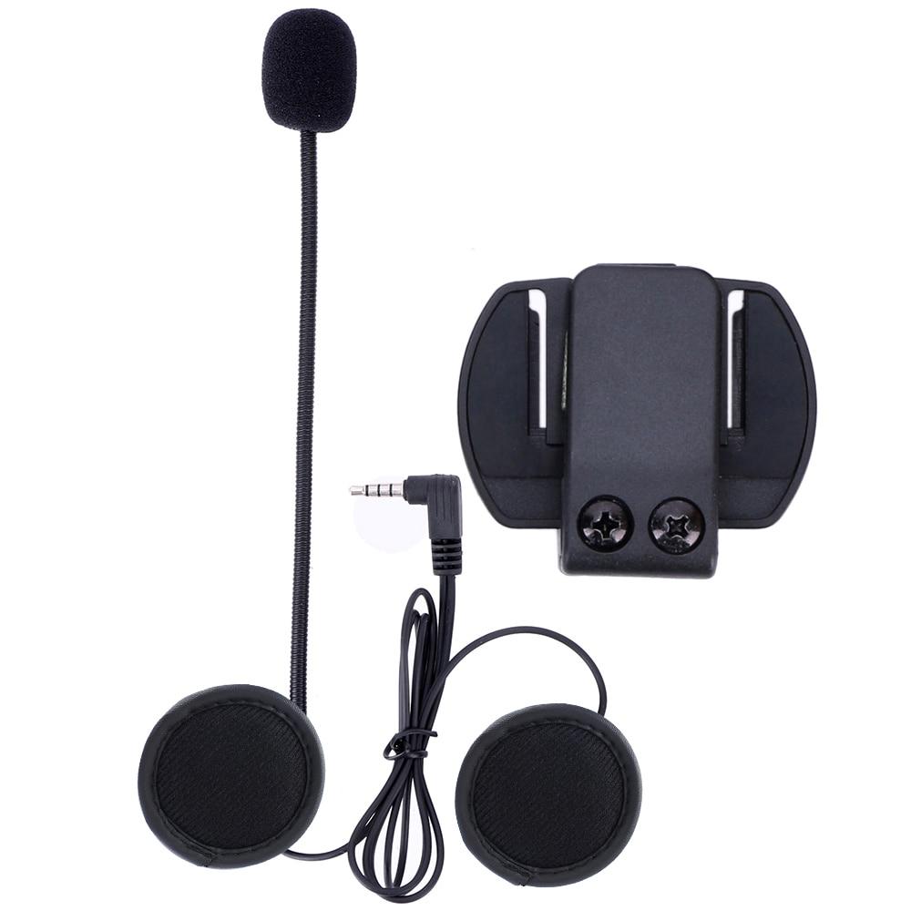 Microphone Earphone & Metal Clip Bracket ONLY Suit For V4 V6 Motorcycle Helmet Bluetooth Headset Interphone