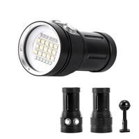 Underwater 100m Scuba Video Light LED Photography Video Dive 15 XML2+6 Red+6 UV Flashlight Lamp Diving Light