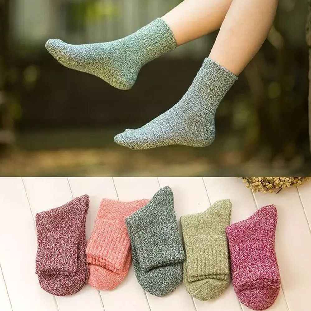 1 Pairs Women/'s Wool Cashmere Thick Sock Lady Soft Casual Winter Thermal Socks