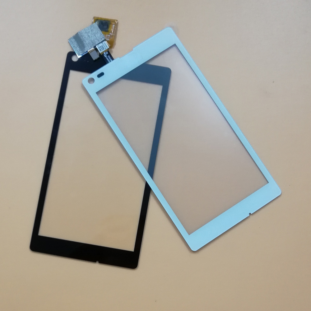 Black / White For Sony for Xperia L S36 S36h C2105 C2104 Front Touch Screen Digitizer Panel Glass Sensor