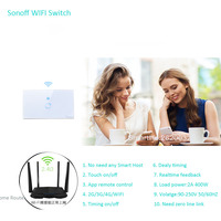 US Type Sonoff Wifi Touch Glass Panel Switch Smart Home Remote Control Wifi Switch 1 Gang