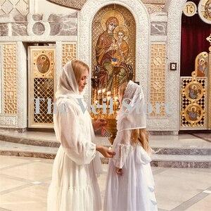 Image 2 - حجاب كاثوليكي للبنات الصغار أبيض من Mantilla مناسب للكنيسة للأطفال الصغار وحجاب من الدانتيل من قماش الأنوفيا